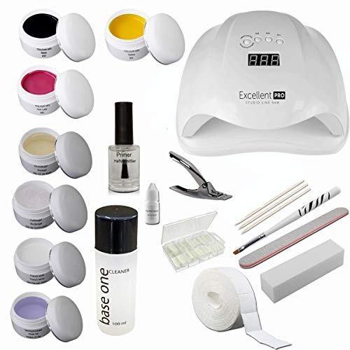 sun garden nails Kit de introducción Starterset Nail con geles de Colores – Kit de...