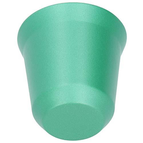 Mothinessto Taza de café Taza de Camping sin Tiradores de Doble Pared Taza de café de Metal Taza de Doble Pared para Vasos de Jugo de café(Green)