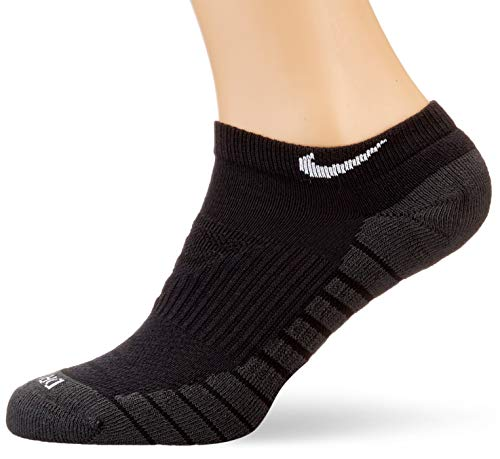 Nike, Everyday Max Cushioned (3 Pairs), Fantasmini, Nero/Antracite/Bianco, M