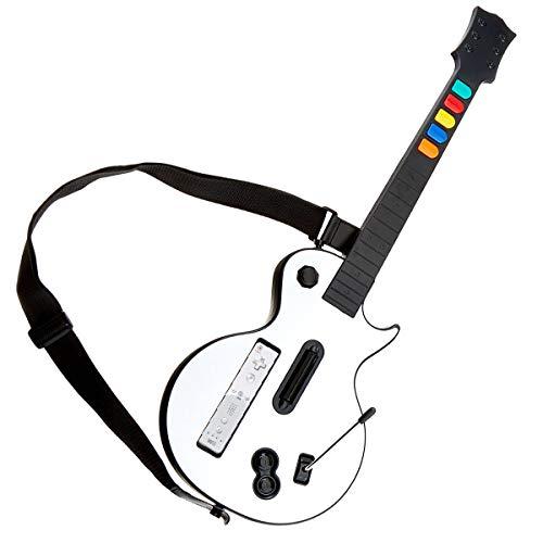 DOYO White Wii Guitar, Controlador de Guitarra Wii desmontable, Nintendo Wii Guitar Hero y Rock Band Game para Guitarra Inalámbrica