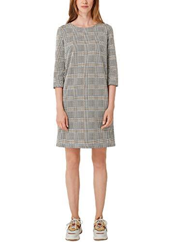 s.Oliver Damen 14.909.82.3899 Kleid, Gelb (Curry Glencheck 15R1), (Herstellergröße:44)