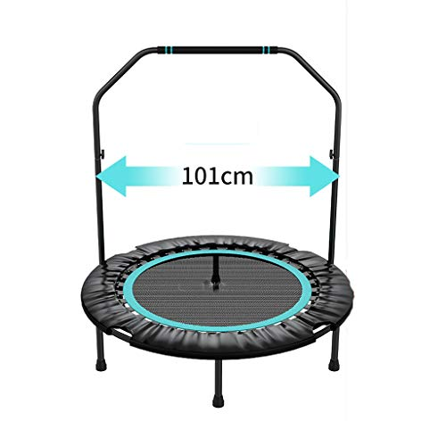 HYM Fitness Trampoline, Double Armrests Are Stable And Durable, Gym Gymnastics Bar Sports Equipment, Adult Mini Trampoline Garden/indoor/outdoor(Color:blue)