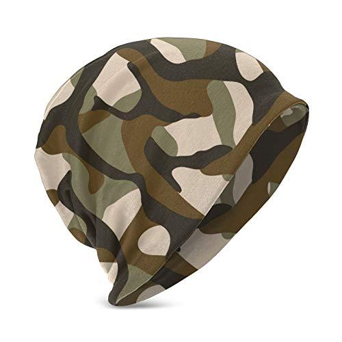 Pillow Socks Camouflage-Mütze im Militär-Stil, weiche Stretch-Strickmütze für Jungen & Mädchen