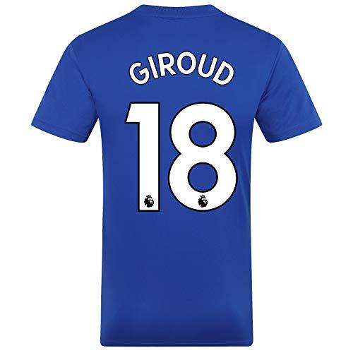 Chelsea FC - Herren Trainingstrikot - Offizielles Merchandise - Royalblau mit weißem Streifen - Giroud 18 - S