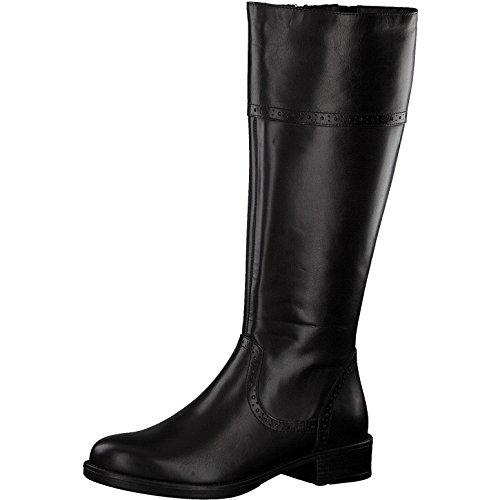 Tamaris Damen Stiefel 25547-21,Frauen Boots,Lederstiefel,Reißverschluss,Blockabsatz 3.5cm,Black,EU 39