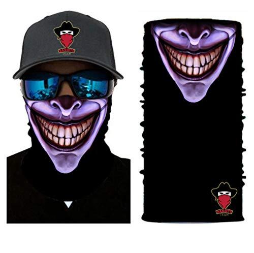 Bandits Team I Bedrucktes Multifunktionstuch I Face Shield aus Mikrofaser- fürs Motorrad-, Fahrrad- und Skifahren I Farbe: Smile 2 I 1er Pack