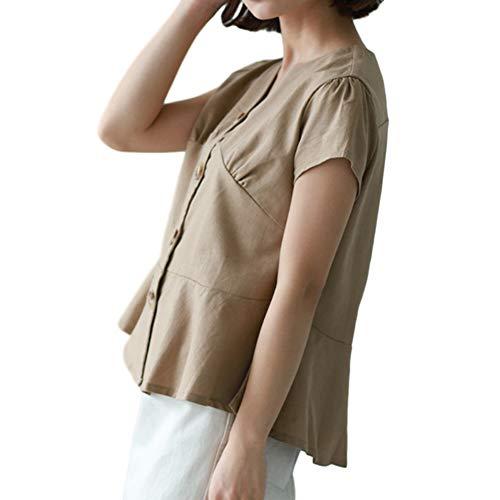 Yenieレディース 夏服 トップスファッション春秋 半袖tシャツ ベスト きれいめカジュアルショート大きいサイズトップス