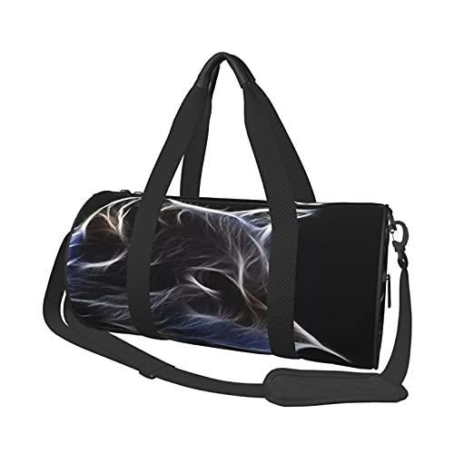 MBNGDDS 3D Wolf Reisetasche Duffel Bag Leicht Faltbar Wasserdicht Weekender Bag mit Schultergurt Sport Gym Bag für Damen & Herren, siehe abbildung, Einheitsgröße,