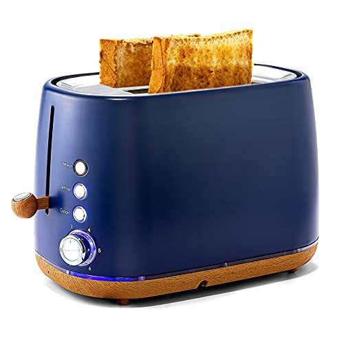 Pukomc Toaster 2 Slice Wide Slot with Removable Crumb Tray