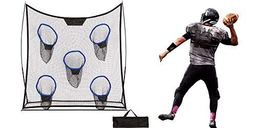 Trademark Innovations 6.9' Portable Football Training Net with Five Targets and Carry Bag
