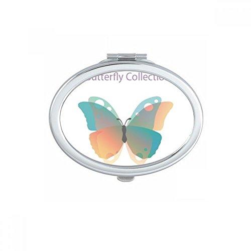 DIYthinker Purple Butterfly Collection Maquillage Ovale Miroir de Poche Compact Miroirs Mignon Petit Cadeau à la Main Portable Multicolor