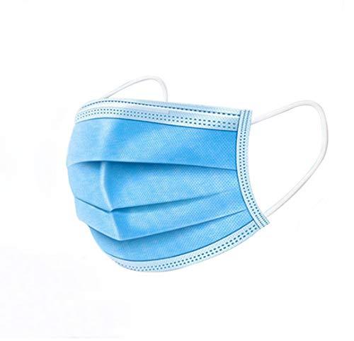 Einwegblau 3 Lagen Vlies Mundlicht atmungsaktiv 3D erwachsene Kinder Filter -60Stk