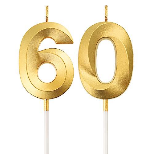 60. Geburtstag Kerzen Kuchen Ziffer Kerzen Alles Gute zum Geburtstag Kuchen Topper Dekoration für Geburtstag Party Hochzeit Jahrestag Feier Lieferungen