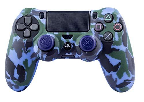 FR- TEC - Protector Silicona + Grips Camo Navy, para mando Dualshock de PlayStation 4