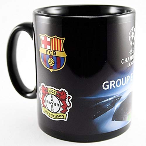 Bayer 04 Leverkusen Champions League Begegnungstasse,Kaffeetasse, Kaffeepott, Mug - Plus Lesezeichen Wir lieben Fußball