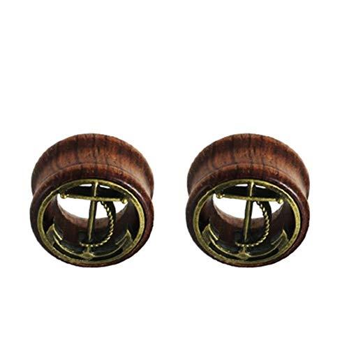 LCHB - 1 par de dilatadores para los oídos para mujeres y hombres, expansores de túnel, dilatadores de dilatación para el cuerpo de joyería para mujeres (color: estilo 12, tamaño: 20 mm)