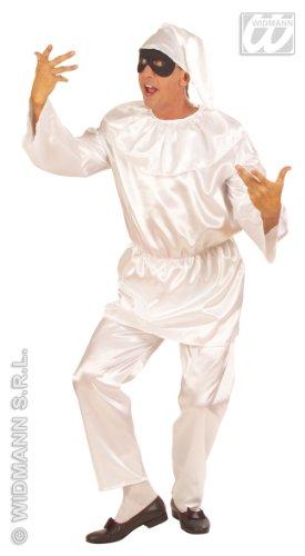WIDMANN WID56543 - Costume per Adulti Pulcinella, Bianco, L
