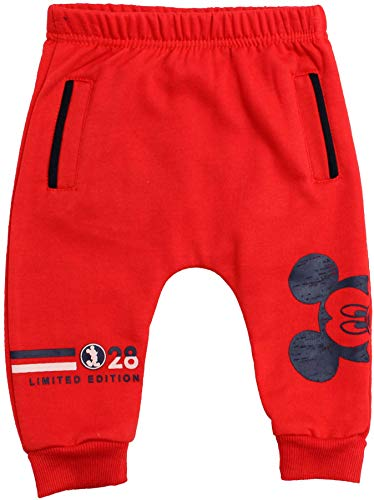 Disney Mickey Mouse Baby Jungen Jogginghose Peek A Boo Gr. 6 Monate, rot