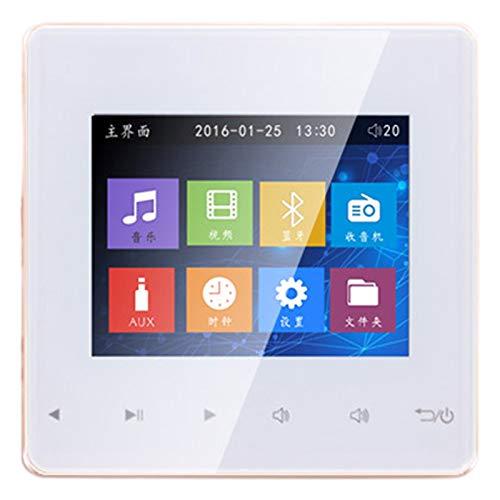DomilayBluetooth Smart Control Sistema de MúSica MóDulos de Altavoces de Techo Sistema de Audio para el Hogar Amplificador EstéReo Digital en Pared para Hotel