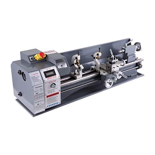 Z ZELUS Torno de Metal Torno de Trabajo de Metal 2500 RPM Máquina de Torno Fresadora de Alta Precisión para Procesamiento de Piezas de Precisión (8.7 x 29.5 Pulgadas)