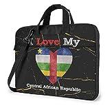 Ich Liebe Meine Zentralafrikanische Republik Herz Flagge Laptop-Tasche Umhängetasche Computer-Tasche Aktentasche Tasche geneigte Umhängetasche