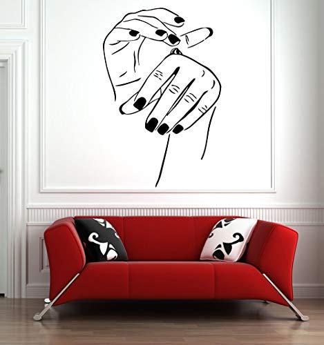 Salón de belleza tatuajes de pared arte uñas decoración del hogar vinilo salón de belleza etiqueta de la pared vinilo salón de belleza