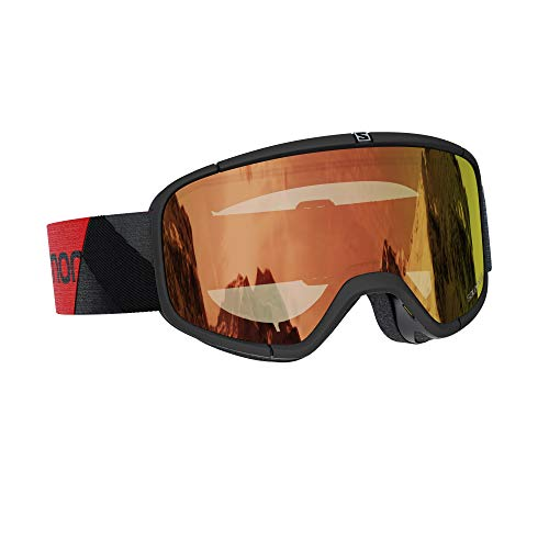 Salomon Goggles Four Seven Photo Sonnenbrille, Erwachsene, Unisex, Schwarz/Rot (Schwarz), NS