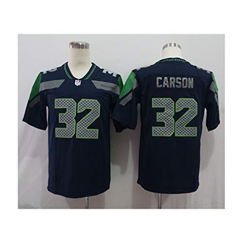 NFL Fußballtrikot Seattle Seahawks # 32 Carson Fan Edition Besticktes Trikot Kurzarm Sport T-Shirt NFL Jersey Match Training Top