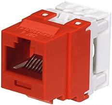 Panduit NK688MRD Category-6 8-Wire Jack Module, Red