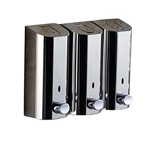 Accesorios de baño Dispenser di sapone Pompa in acciaio inox Trio Liquid Hand Sanitizer, dispensatore di shampoo e condizionatore, bottiglia di lozione Trio per bagno Hotel para el desinfectante de la