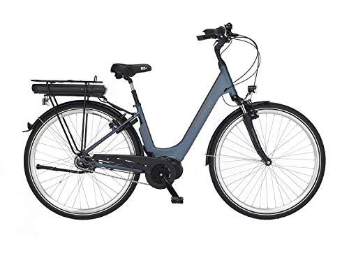 "Fischer City Cita 2.0-Bicicleta eléctrica (28"", Motor Central 50 NM, 36 V), Color Azul petróleo Mate, Unisex Adulto, 28'' -RH 44 cm"