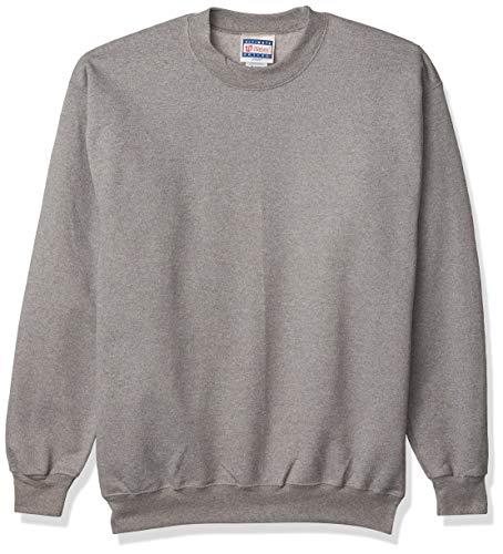 Hanes Herren Ultimate Cotton Sweatshirt, Oxford-Grau, Klein