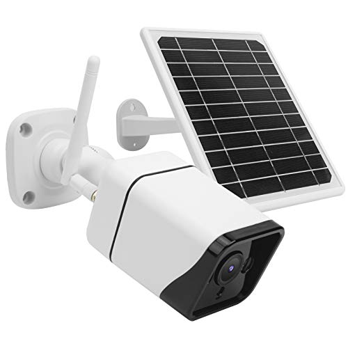 Cámara con batería de panel solar 1080P, con detección de movimiento, cámara con panel solar para exteriores, impermeable Cámara de visión nocturna CCTV, vigilancia de seguridad en el hogar(4G-APN)