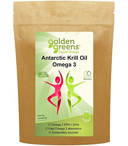 Golden Greens Antarctic Krill Oil Omega 3 Capsules x 120