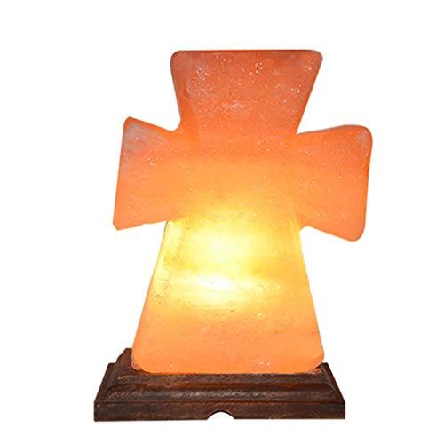 Luminaires & Eclairage/Luminaires intérieur/EC Lampe de sel Creative Croix Night Light Cristal de l'Himalaya Lampe de sel Chambre Lampe de Table Salon décoration Lampe, sculpté à la Main