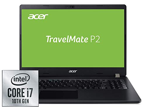 Acer TravelMate P2 (TMP215-52-76G9) 39,6 cm (15,6 Zoll Full-HD IPS matt) Business-Laptop (Intel Core i7-10510U, 8 GB DDR4 RAM, 512 GB PCIe SSD, Intel UHD, Win 10 Pro) schwarz