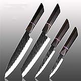Durable y afilado Cocinero del cuchillo 440C de acero forjado hecho a mano japonesa de la carne aguda Cleaver Kiritsuke Santoku Utilidad cuchillo de pelado utensilios de cocina Bien hecho