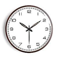 WEM 壁掛け時計電池式12インチサイレント非カチカチ装飾寝室キッチンリビングルーム木製レストランクォーツ時計,b