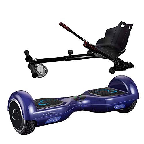 SmartGyro X2 Blue UL + Go Kart Pro Elektrische step, 6,5 inch wielen, lithium accu, robuuste en comfortabele structuur, voor kinderen en volwassenen, blauw