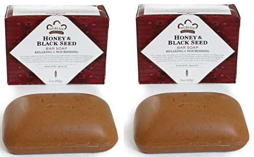 Nubian Heritage Soap Bar, Honey and Black Seed, 5 Ounce (2 Pack)