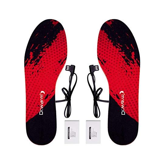 Dr.warm Beheizbare Einlegesohle Thermosohlen 3.7V 4000mAh Akkubetrieb Winter-Fußwärmer zum Skifahren Jagd Eisfischen Wandern Camping (3 Warmstufen)