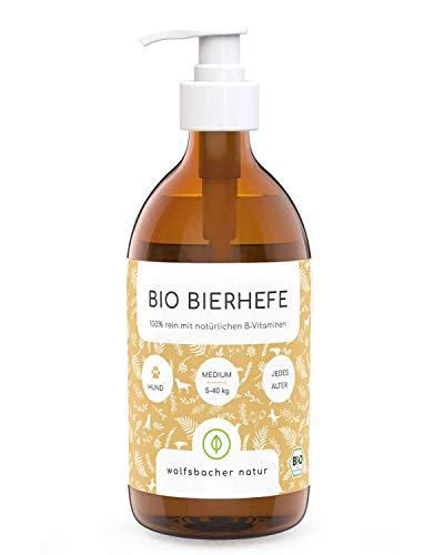 Bio Bierhefe für Hunde und Katzen, Natürliche Haut- und Fellpflege mit B-Vitaminen, Aus kontrolliert biologischem Anbau, DE-ÖKO-060, (500 ml)