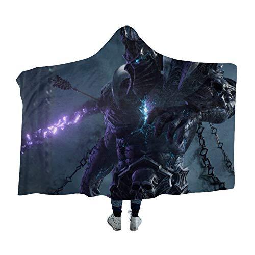 DONL9BAUER Tragbare Decke, dunkle Seitendecke, dunkle Kurier-Bettwäsche, Sweatshirt mit Kapuze, warmer Überwurf, tragbarer Kuschelumhang mit Kapuze für Erwachsene, Kinder und Jugendliche
