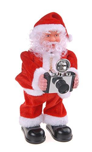Autour de Minuit 5aut032Papá Noel fotógrafo a Pilas plástico, plástico, 22.5 x 9 x 25 cm