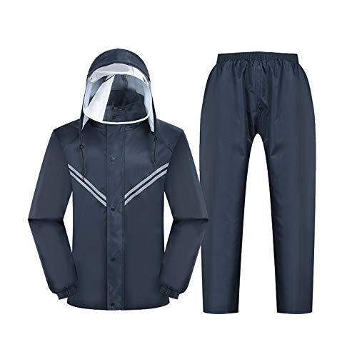 WangYi Chubasquero- Impermeable Impermeable para Adultos Pantalones de Lluvia Engrosamiento Conjunto Dividir...