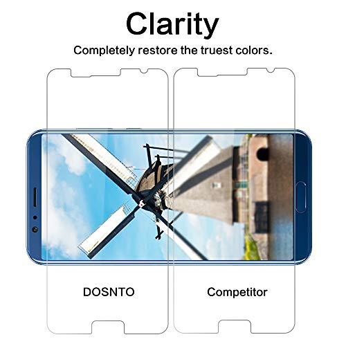 DOSNTO [2 Stück Panzerglas Schutzfolie für Huawei Honor View 10, 9H Härte, Anti-Kratzer, Anti-Öl, Anti-Bläschen, Anti-Fingerprint Displayschutzfolie Panzerglasfolie - 3