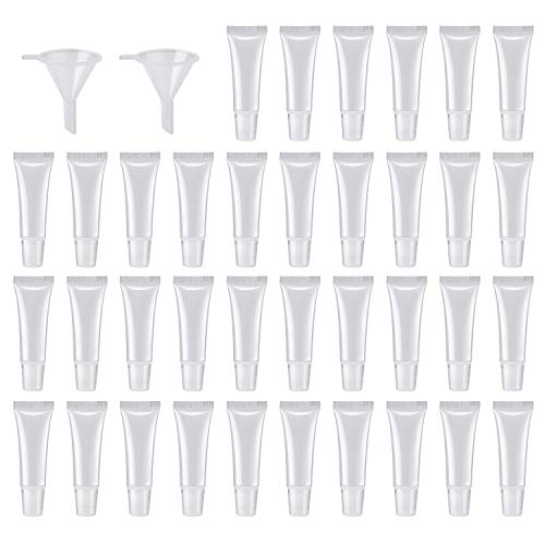 40Pcs 10ml Empty Tubes Lip empty lip gloss containers for Lip Gloss Balm Cosmetic by HRLORKC