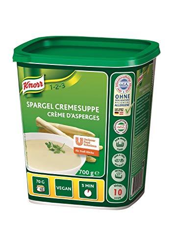 Knorr Spargel Cremesuppe Trockenmischung (intensiver, natürlicher Spargel Geschmack) 1er Pack (1 x 700g)
