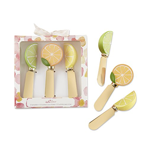 Kate Aspen 25329AS Citrus Chic Gift Bridal, Baby Showers or Entertaining Guests Spreader Set, One Size, Gold, Yellow, Orange and Green