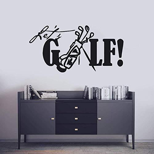 Muursticker muurbehang verwijderbare golfmuursticker laat S golfmuursticker sport golfclub muurschildering huisdecoratie golf vinyl stickers 84 * 42 cm